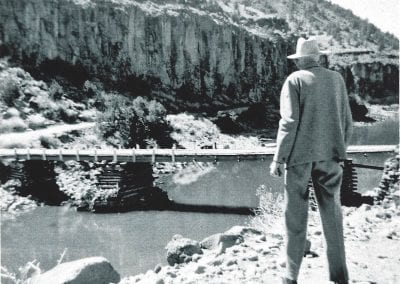 John Dunn's bridge over the Rio Grande in 1950